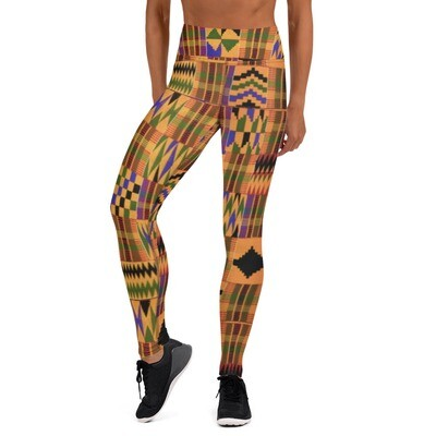 Morowa Kente High Waist Leggings : African Print Leggings