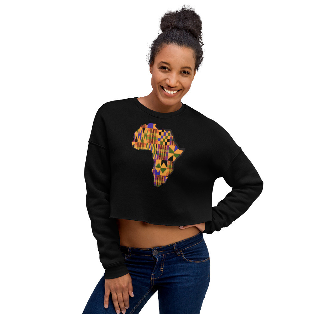 Kente Africa Crop Sweatshirt