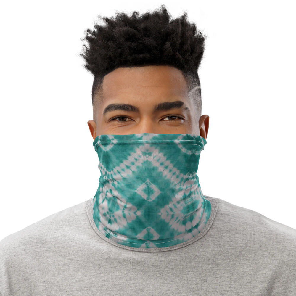 African Print Tie Dye Mask   Neck Gaiter