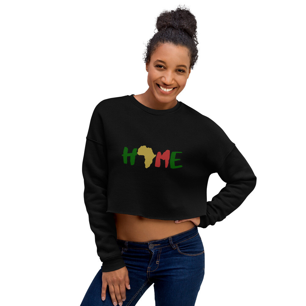 Africa is Home Crop Sweatshirt