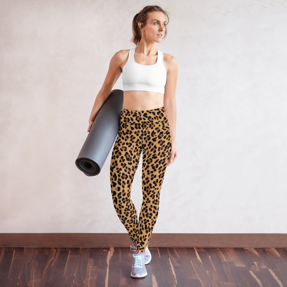 Leopard Print High Waist Leggings Leggings