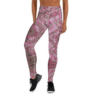 Pink African Tie Dye High Waist Leggings
