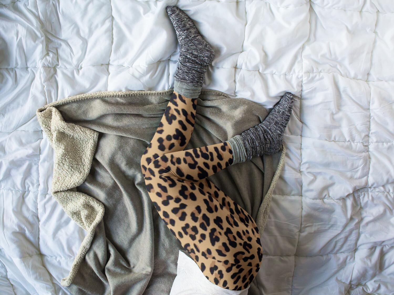 Leopard Print High Waist Leggings Leggings