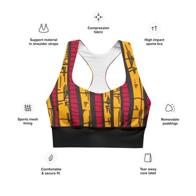 Kosi Support Sports Bra | LUX Collection | African Print Bra