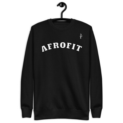 AFROFIT Premium Fleece Pullover | Black