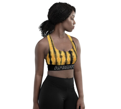 AFROFIT Tie Dye Support Sports Bra | LUX Collection | African Print Bra