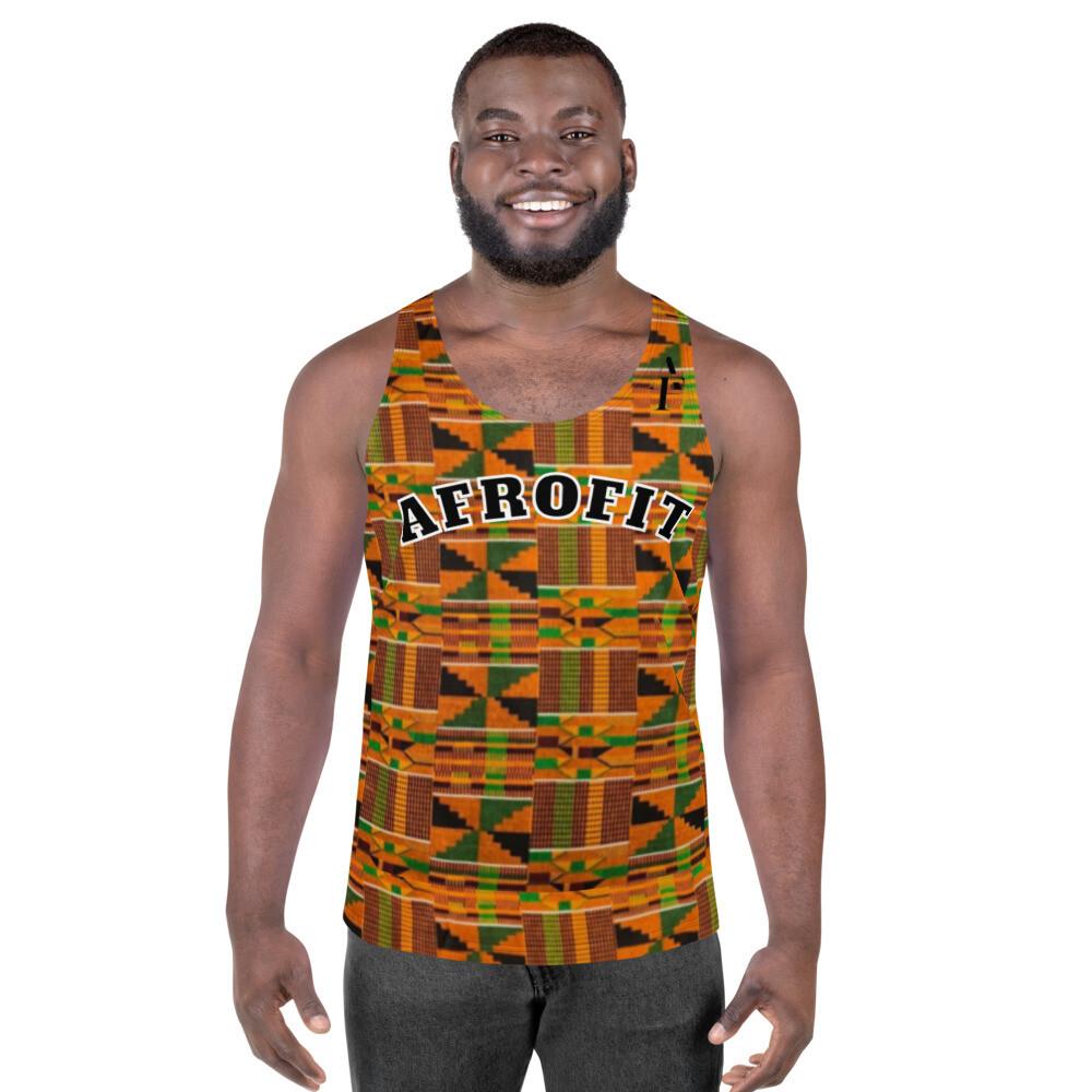AFROFIT Kente Gym Tank Top | African Print Shirt
