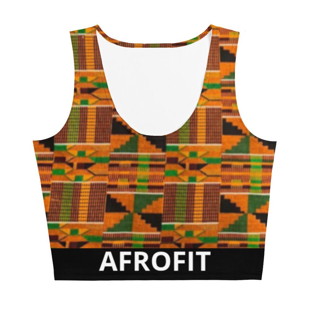 AFROFIT Akua Gym Crop Top | Kente Top