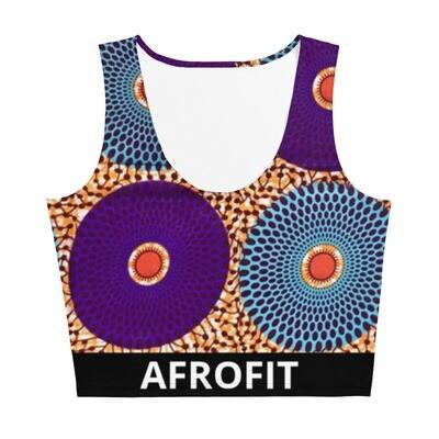AFROFIT Ijeoma Gym Crop Top | African Print Top