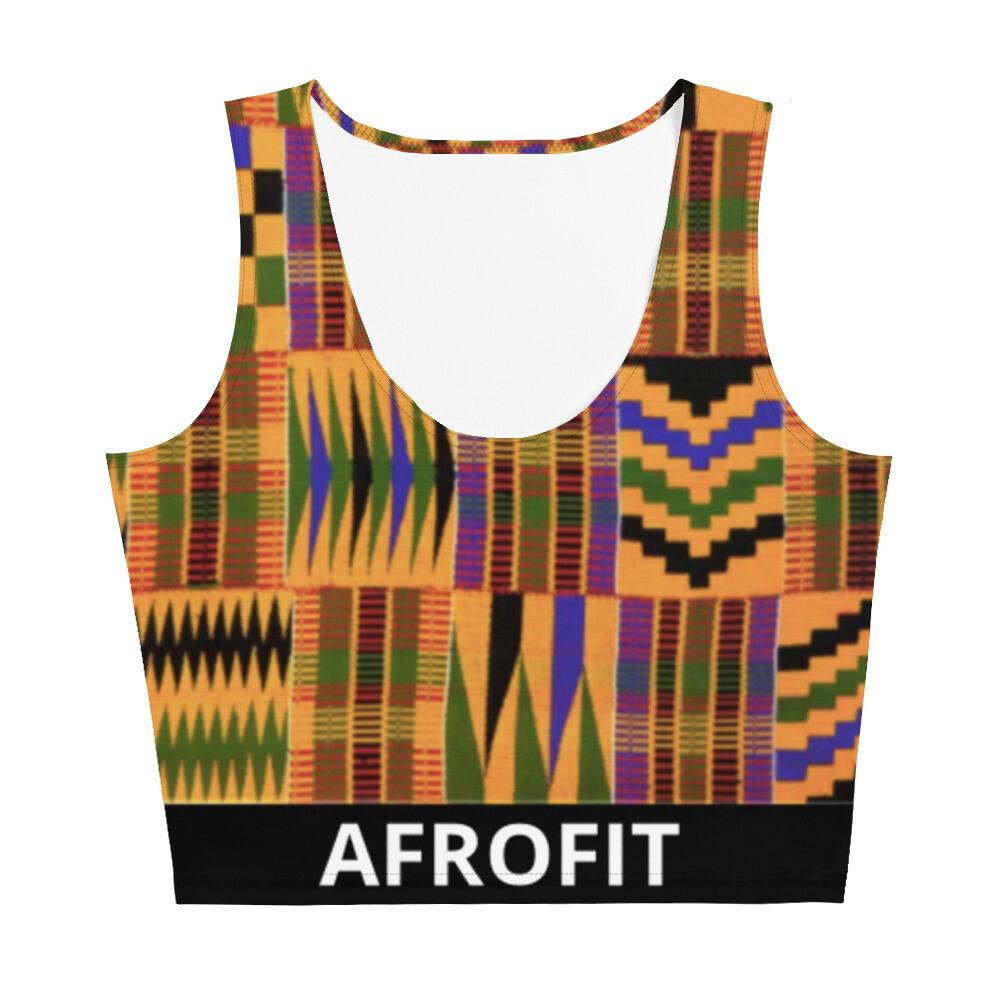 AFROFIT Morowa Gym Crop Top | Kente Top