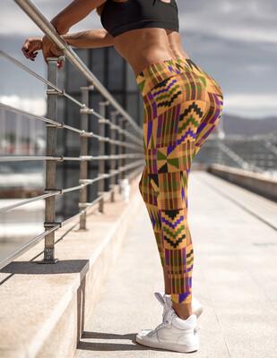 Morowa Kente High Waist Leggings | African Print Leggings