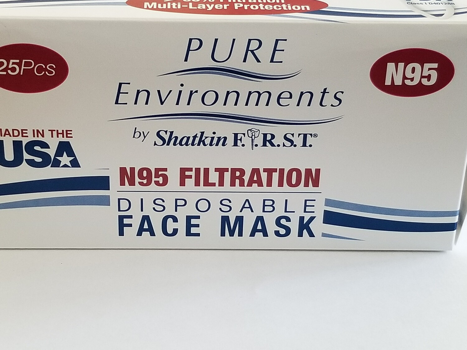 Box of 25 High Filtration Respirators Made In USA
