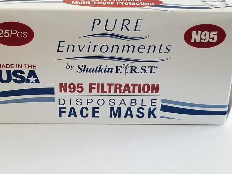 Hecho en USA N95 Caja de 25 mascarillas faciales para consumidores