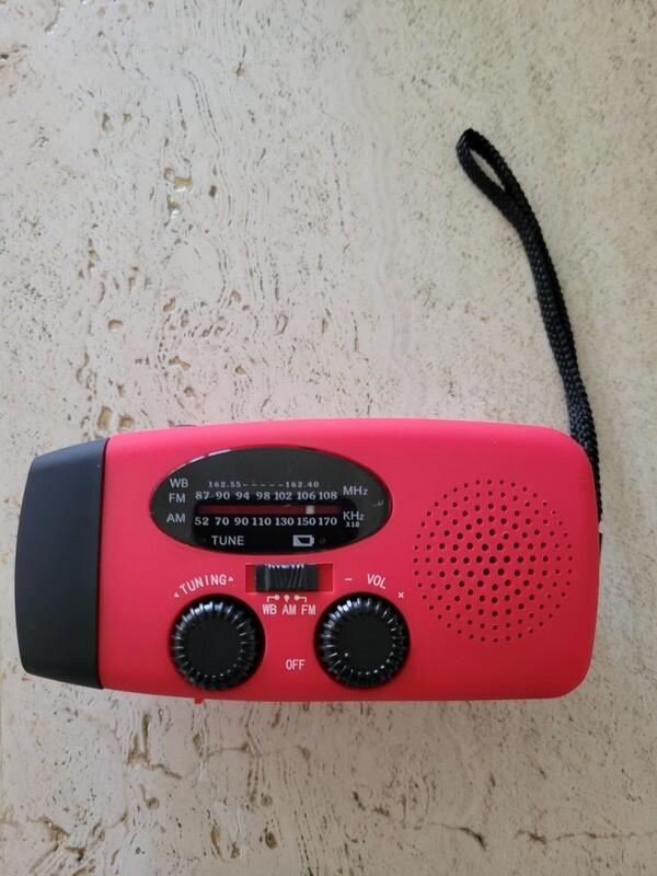 Solar Powered Radio + USB Charger