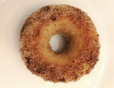 Vegan baked cinnamon donut. GLUTEN FREE available.