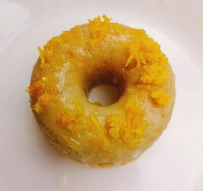 Vegan baked lemon donut. GLUTEN FREE available.