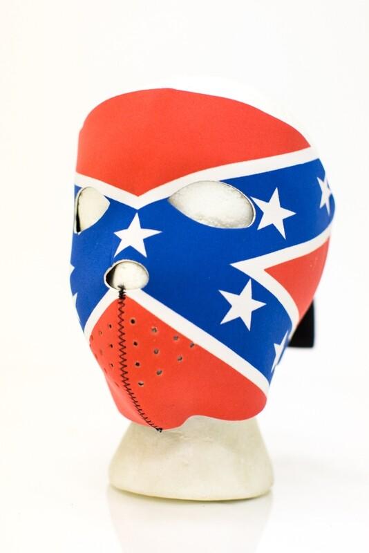 Full Face Neoprene Face Mask With Rebel Flag