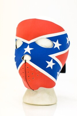 Full Face Neoprene Face Mask With Rebel Flag