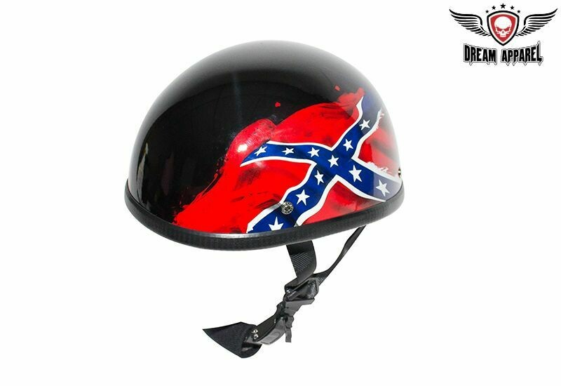Rebel Flag - Confederate Flag Novelty Motorcycle Helmet - Gloss