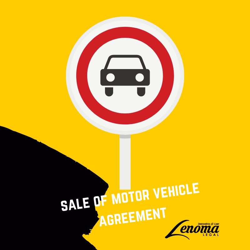 Sale of Motor Vehicle Agreement