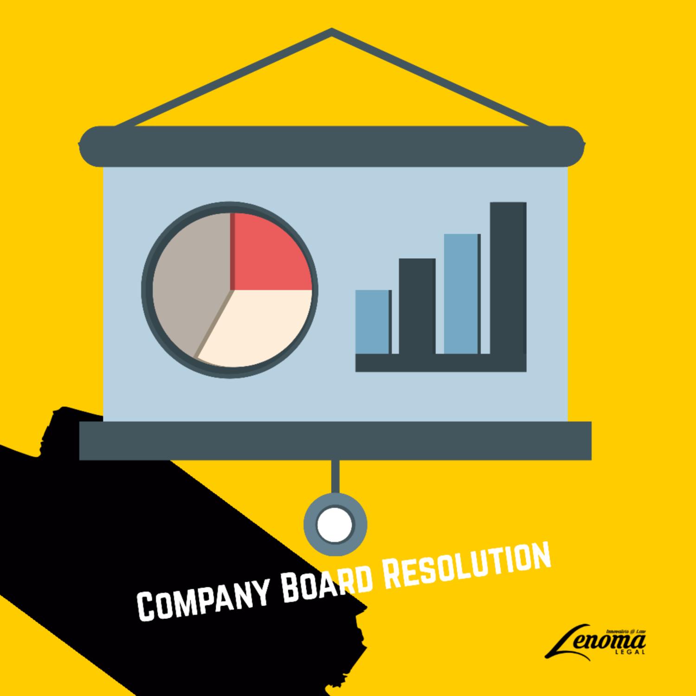 Company Board Resolution