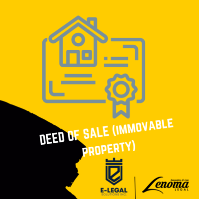 Deed of Sale(Immovable Property) - Lesotho
