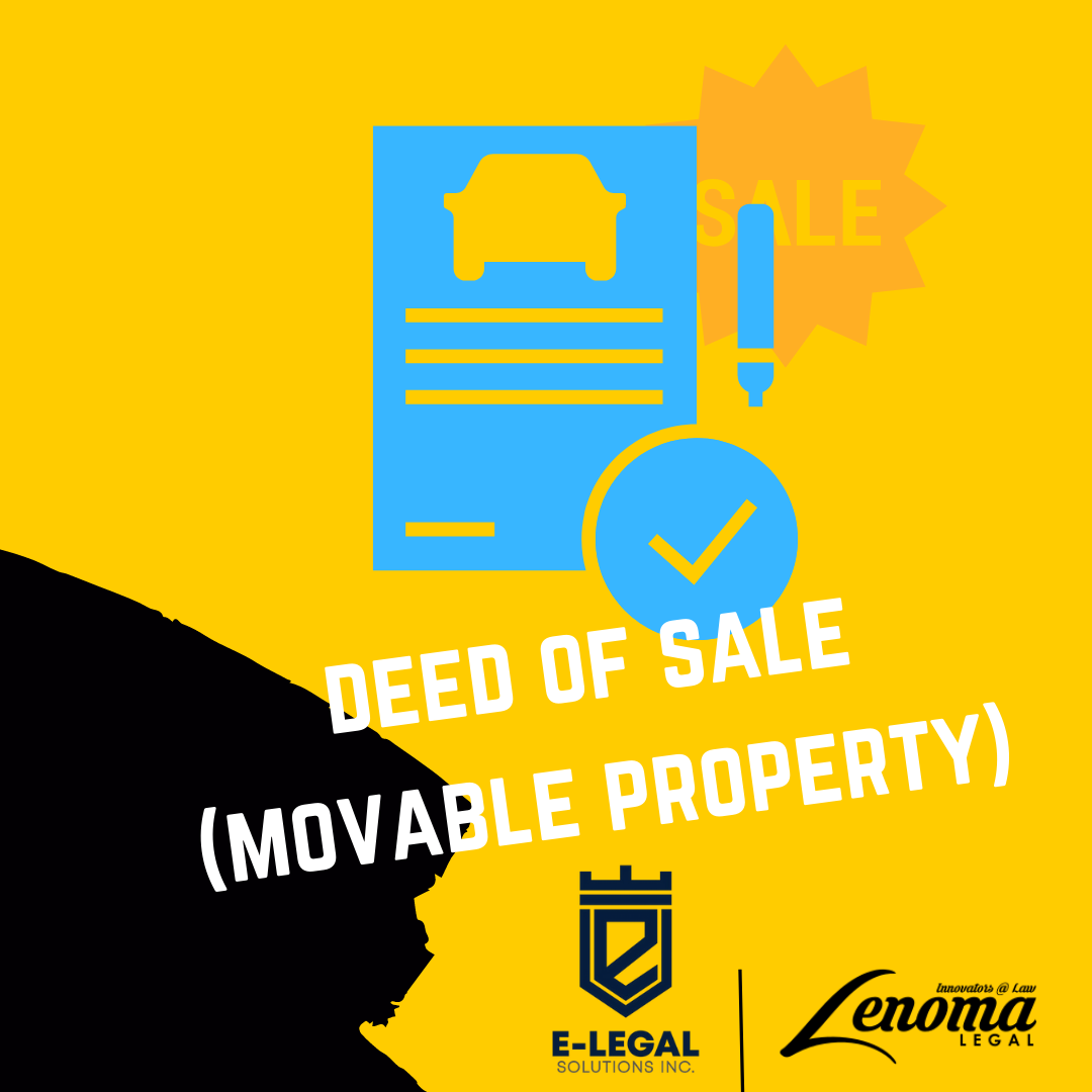 Deed of Sale (Movable Property) - Lesotho