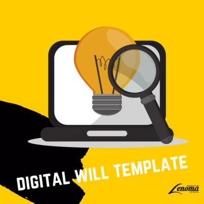 Digital Will Template