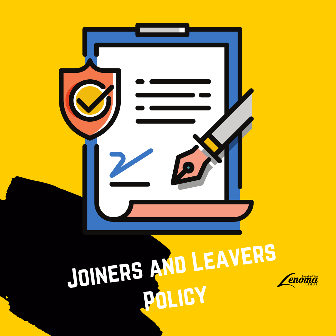 Joiners and Leavers Policy