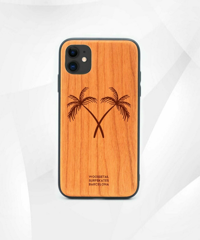 DOUBLE PALMS - Carcasa din Lemn pentru iPhone 11