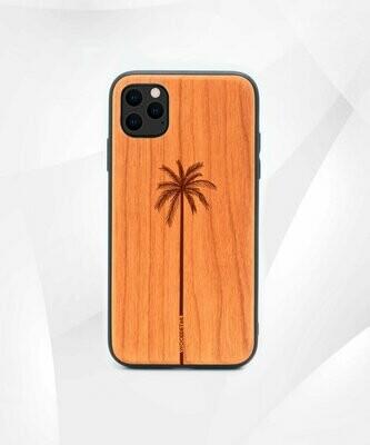 SINGLE PALM - Carcasa din Lemn pentru iPhone 11 Pro