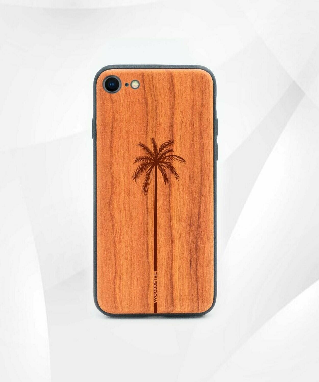 SINGLE PALM - Carcasa din Lemn pentru iPhone 7/8/SE 2020