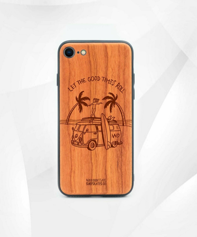 GOOD TIMES - Carcasa din Lemn pentru iPhone 7/8/SE 2020