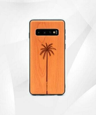SINGLE PALM - Carcasa din Lemn pentru Samsung S10