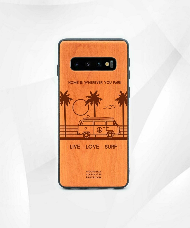 PARADISE - Carcasa din Lemn pentru Samsung S10
