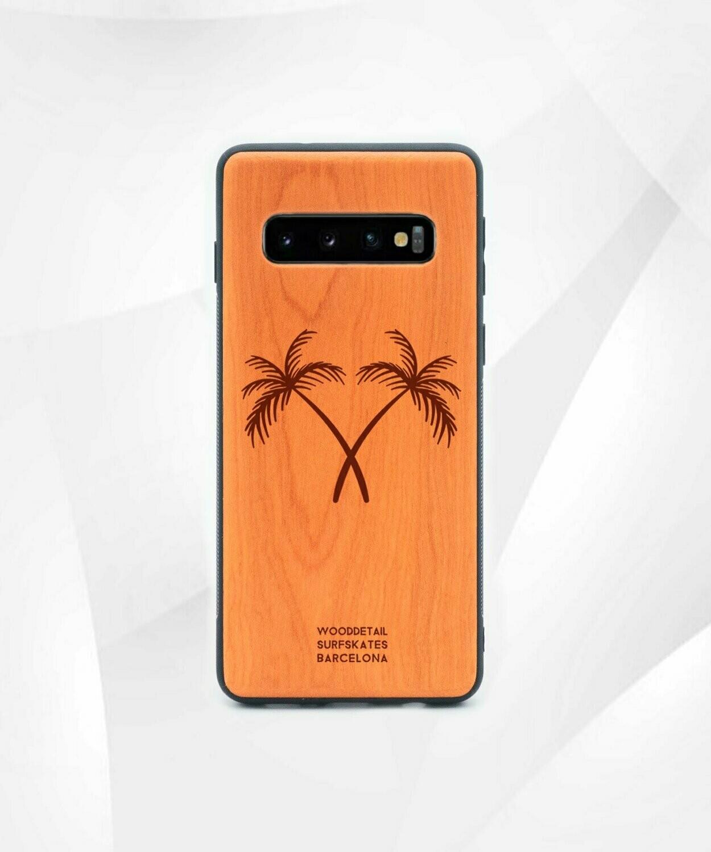 DOUBLE PALMS - Carcasa din Lemn pentru Samsung S10