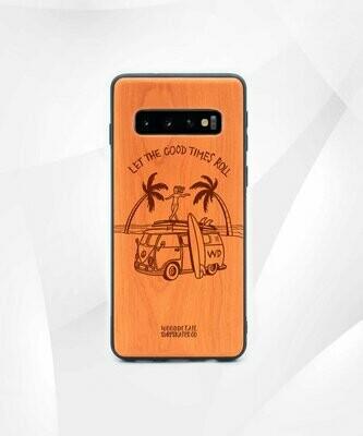GOOD TIMES - Carcasa din Lemn pentru Samsung S10