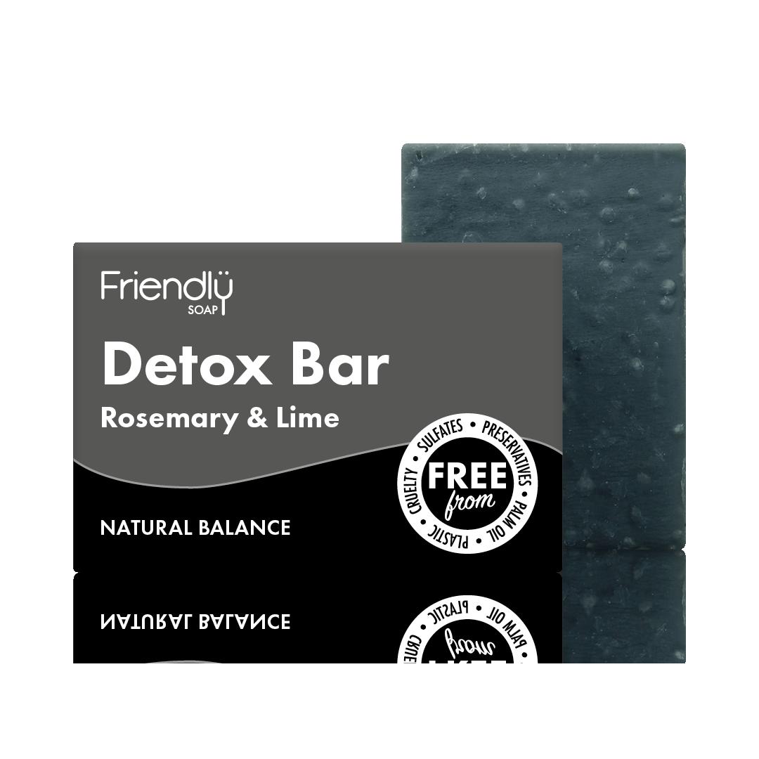 Sapun Natural Detox Bar cu Carbune - Rozmarin si Lime