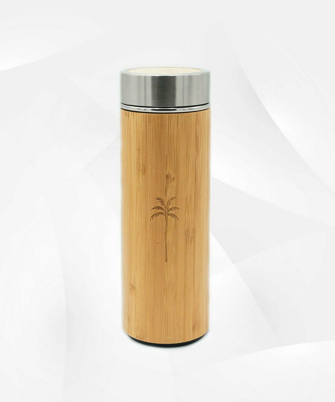 Termos din Bambus cu Infuzor 400 ml