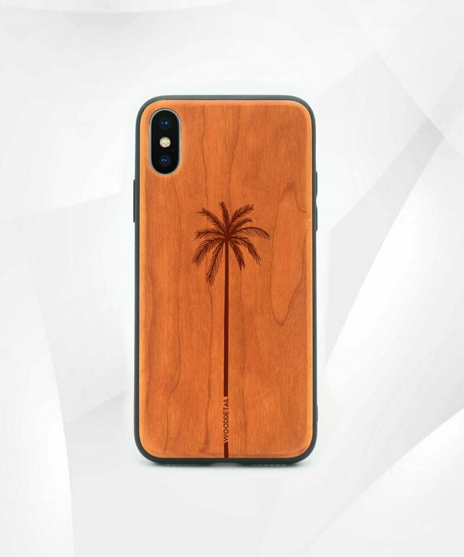 SINGLE PALM - Carcasa din Lemn pentru iPhone X/XS