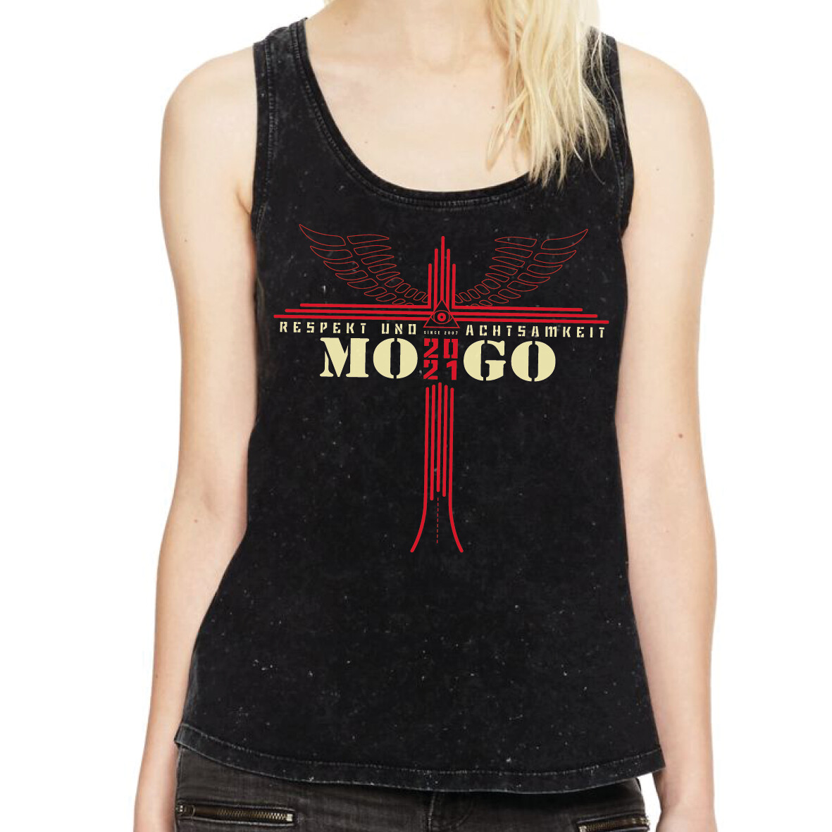 Damen MOGO-Tanktop Acid Black
