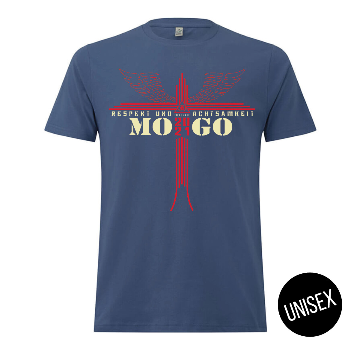 MOGO-Shirt Faded Denim (unisex)