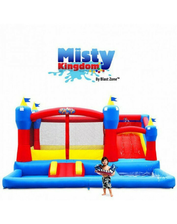 Misty Kingdom Inflatable Bounce House, Ball Pit And Water Park By Blast Zone