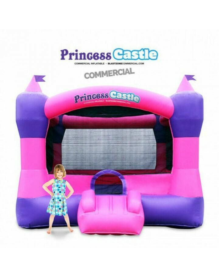 Princess Castle 10 Commercial Bouncer Moonwalk