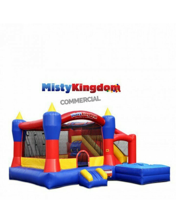 Misty Kingdom Xl Inflatable Commercial Grade Combo Bouncer