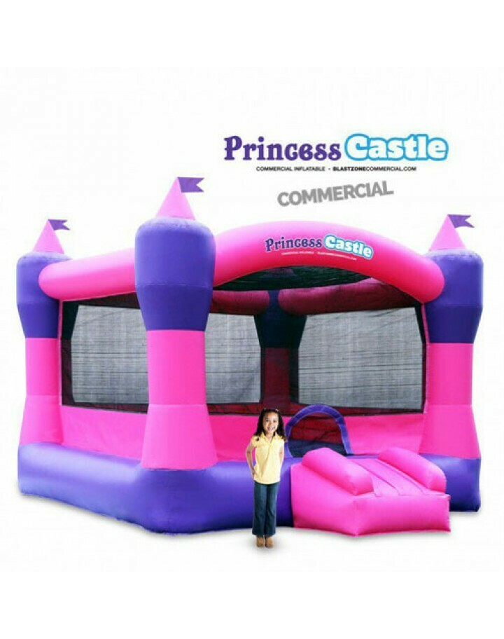 Princess Castle 13 Commercial Bouncer Moonwalk