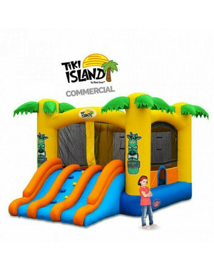 Tiki Island Combo 13 Commercial Inflatable Bouncer W Slide