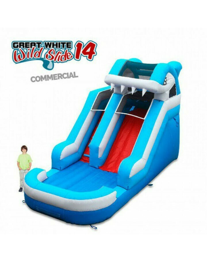 Great White Wild Slide 14 Commercial Inflatable