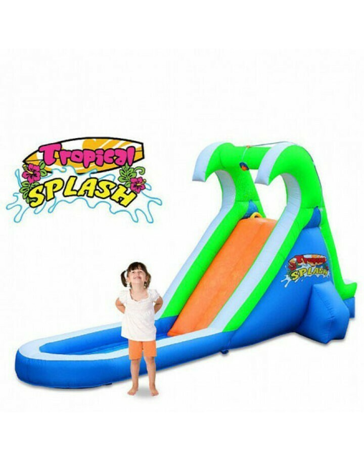 Tropical Splash Compact Backyard Water Slide