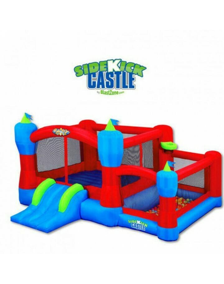 Sidekick Bounce House, Ball Pit, Slide And Hoop By Blast Zone